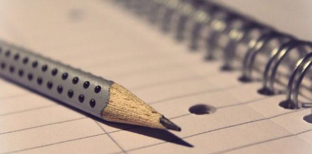 not defteri ve kalem